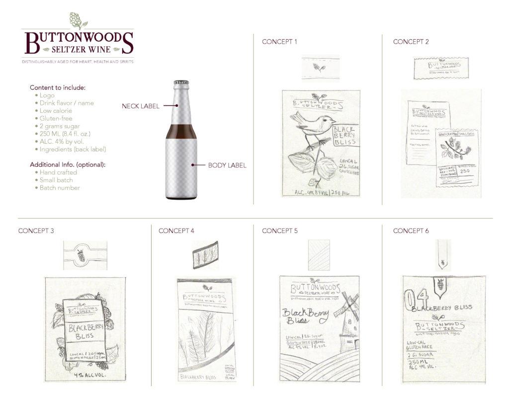 Seltzer Wine Label Branding Concepts