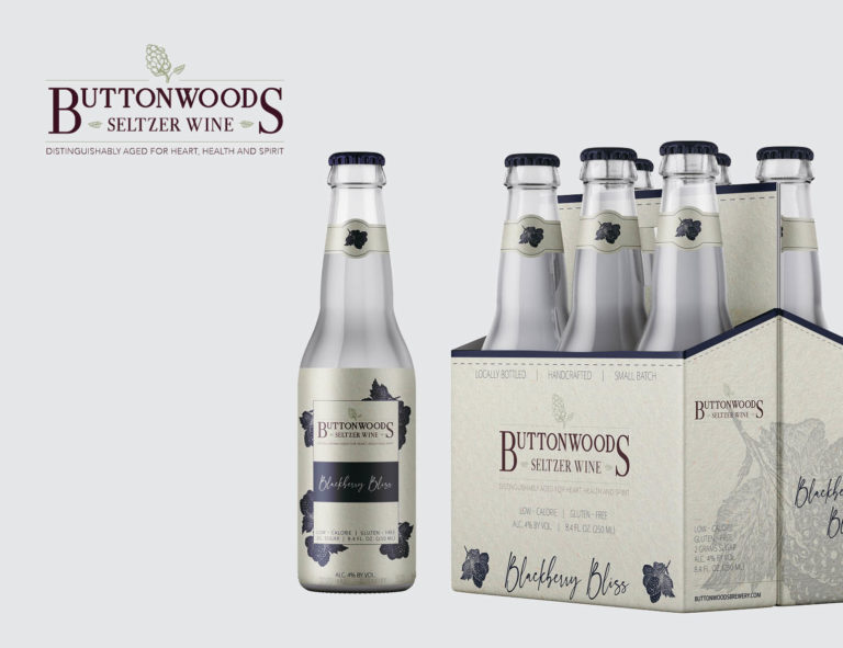 Branding for Buttonwoods Seltzer Wine